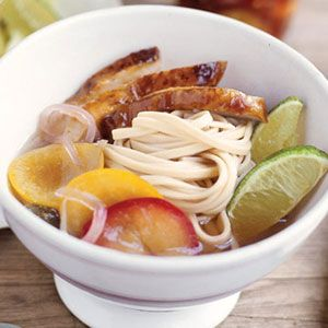 Cold Noodle Salad with Pickled Plums