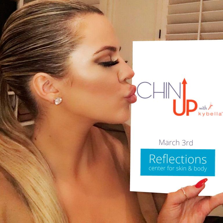 Khloe Kardashian And The Live Chin Up Campaign With Kybella Therapy Kybella Laser Skin Care Chin