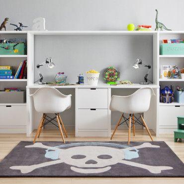 chambre d 39 enfant s lection de rangement sp cial petits espaces bureaux modulaires pour 2. Black Bedroom Furniture Sets. Home Design Ideas