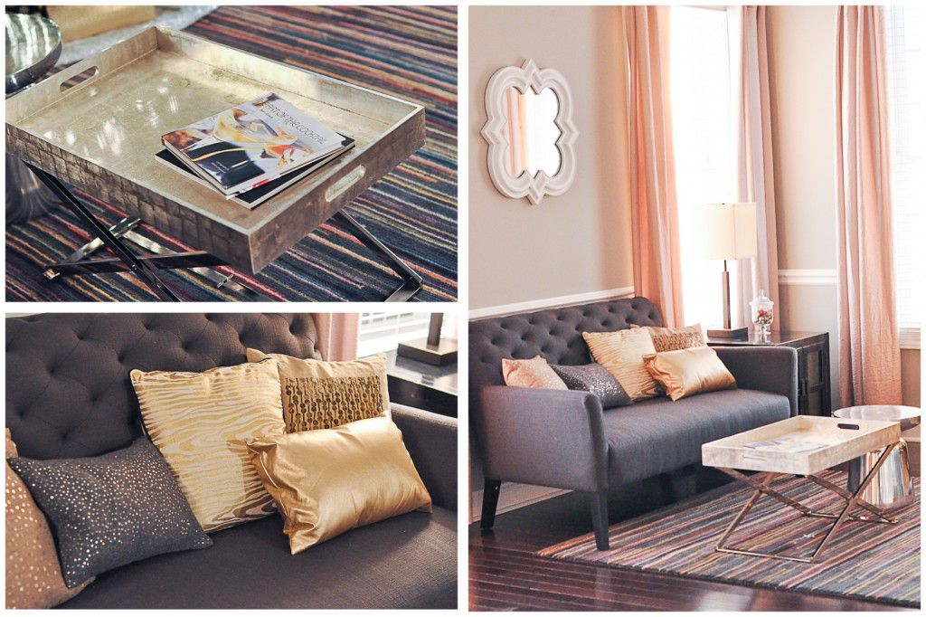Exceptional Our Formal Living Room. Grey, Charcoal, Gold, Silver, Champagne, White And  Colorful Rug