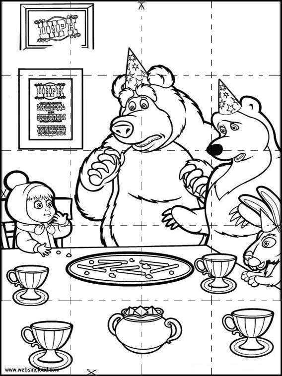 Puzzles Rompecabezas para imprimir para niños Masha y el Oso 7 ...