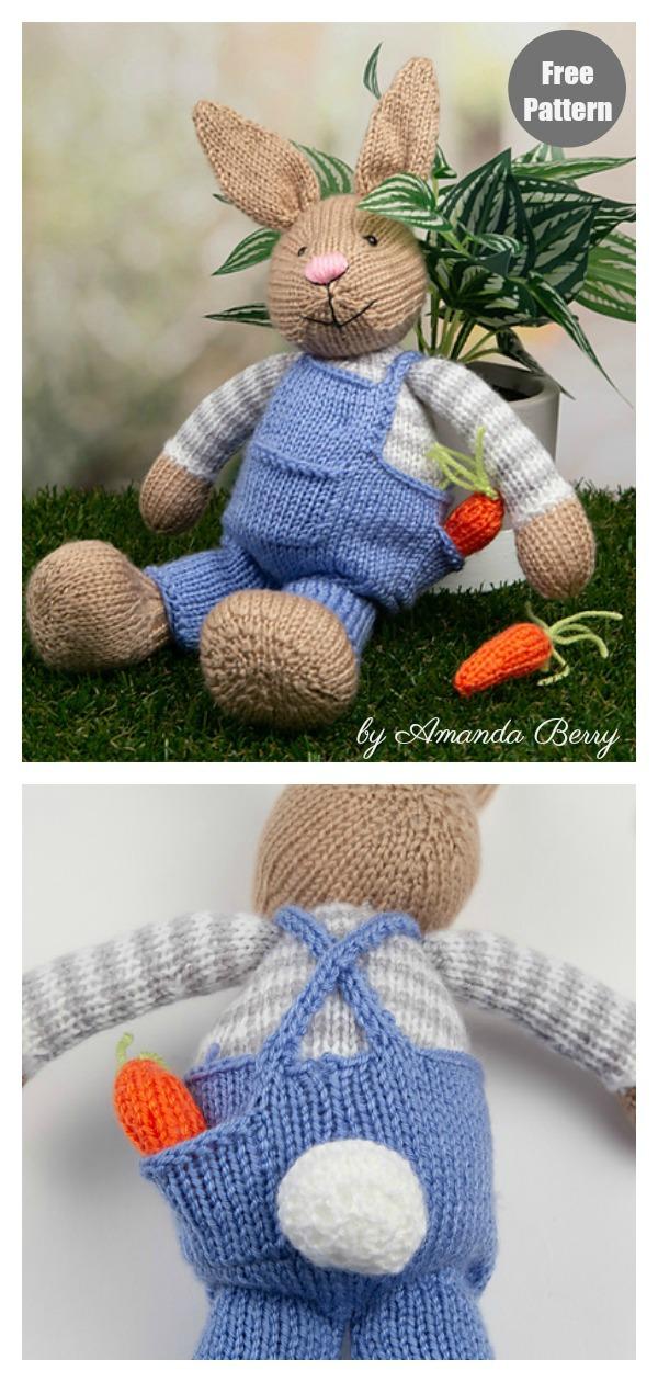 Amigurumi Bunny Rabbit Free Knitting Pattern