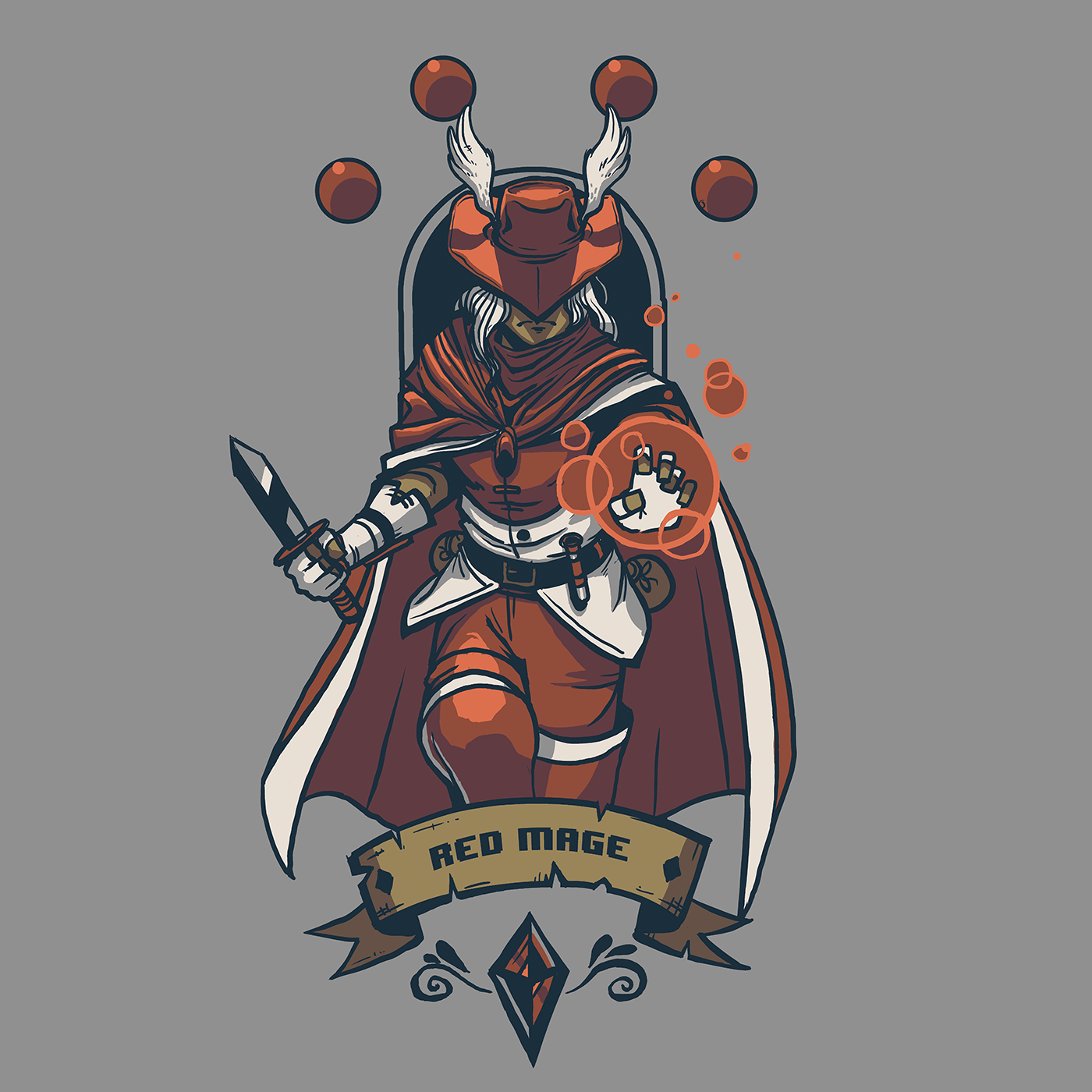 Red Mage Fan Art FFI FinalFantasy Final fantasy