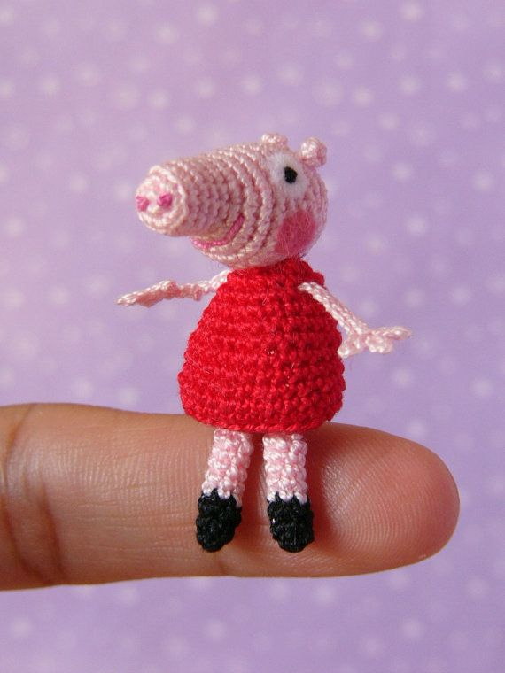 Pdf Pattern Crochet Miniature Peppa Pig Amigurumi Tutorial