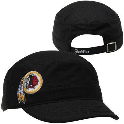 d73e0b1fa33693 '47 Brand Washington Redskins Ladies Sparkle Military Adjustable Hat - Black