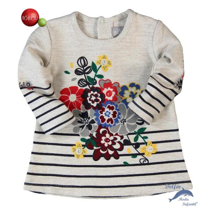 ea56afca89e8 Vestido BOBOLI de felpa perchada Inverno, Moda Feminina, Marcas De Roupas, Moda  Infantil