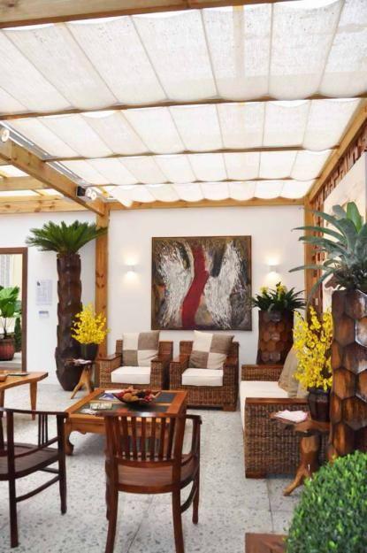 Cortinas de Teto - para Casa e Pergolados! Cobertura Pinterest - cortinas para terrazas