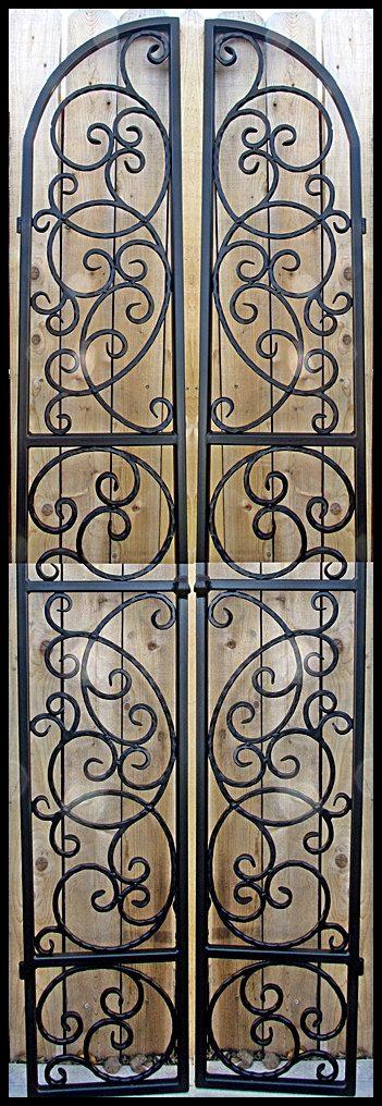 Iron Wine Cellar Door Gate Tall Double Door Hand Forged Steel