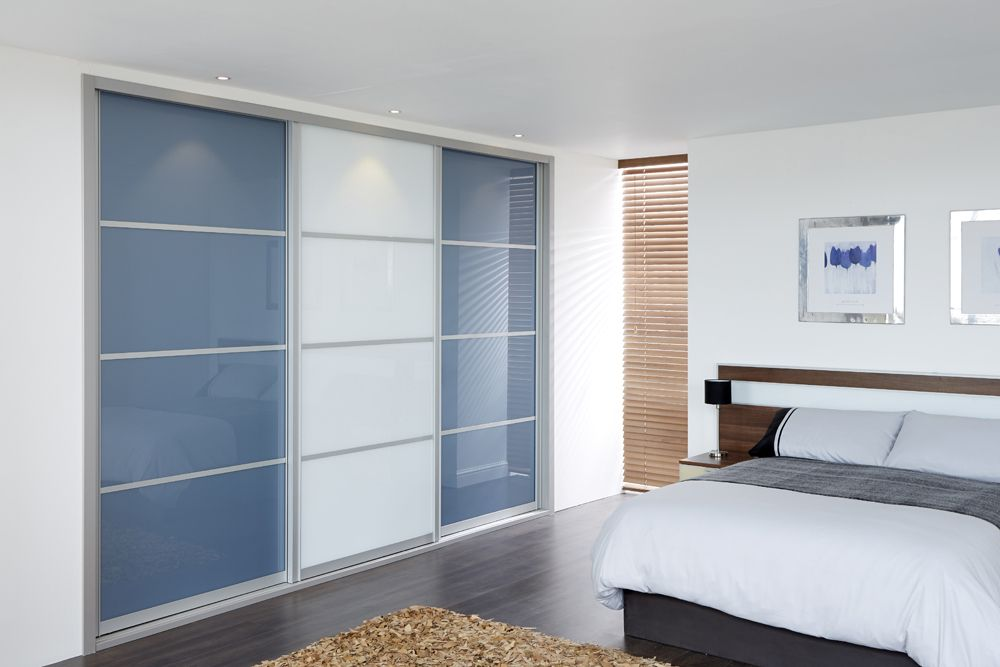 Free Standing White Wardrobe With Sliding Doors And White Lyngdal .