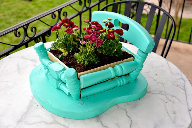 Refresh Renew Re Make A Diy Planter From An Old Wood Chair This Spring Habitatre