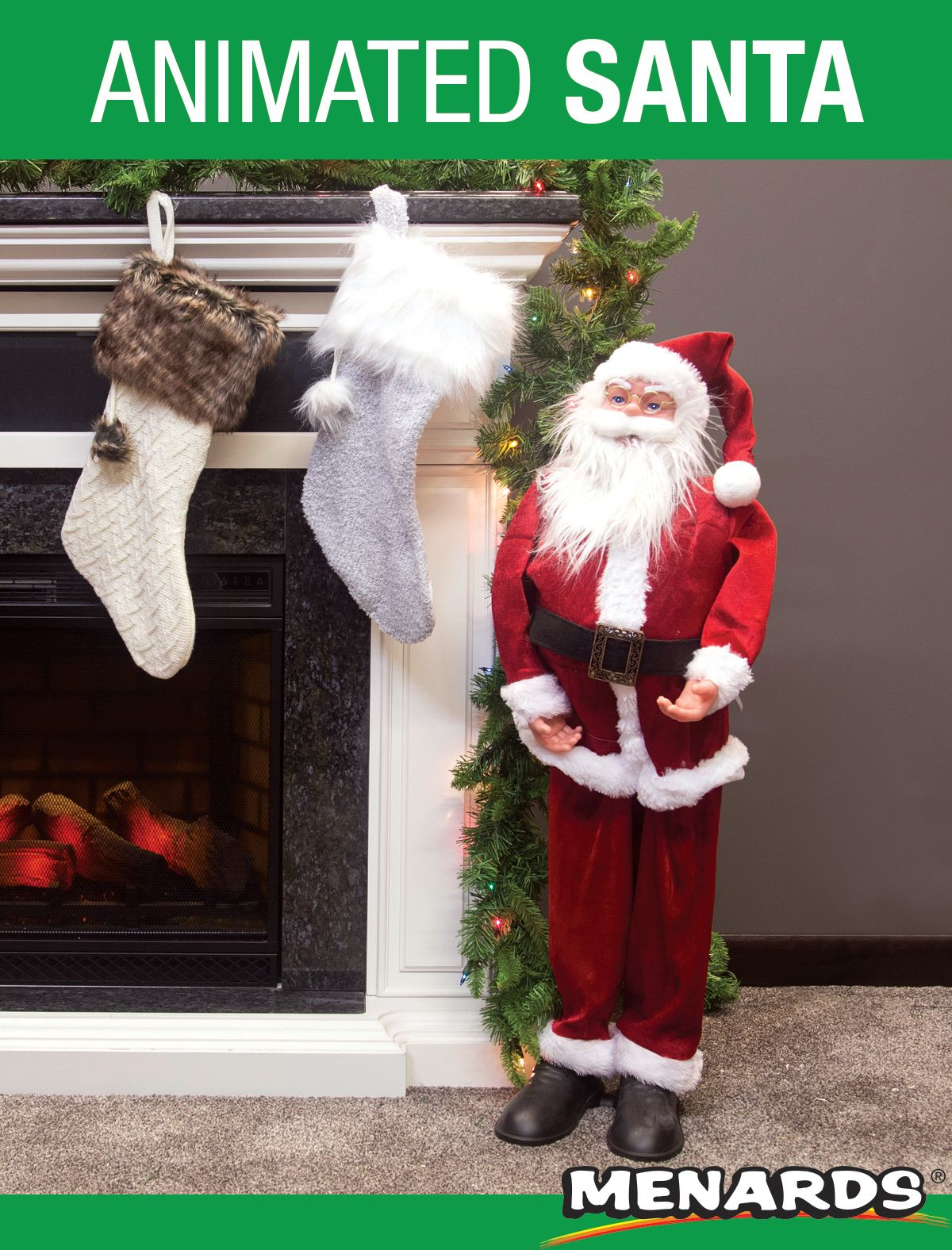 """Decorate this holiday season with the 36"""" Animated Dancing Santa with seasonal music. It is ..."""