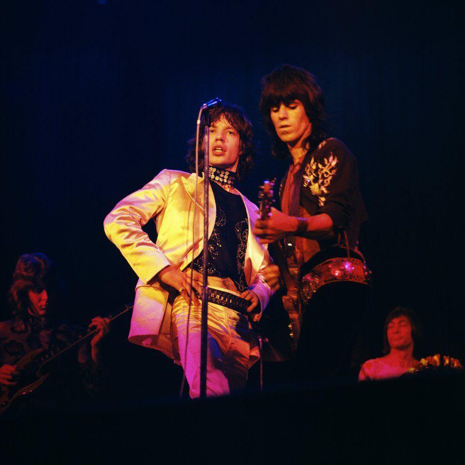 Mick Jagger and Keith Richards, circa 1970.