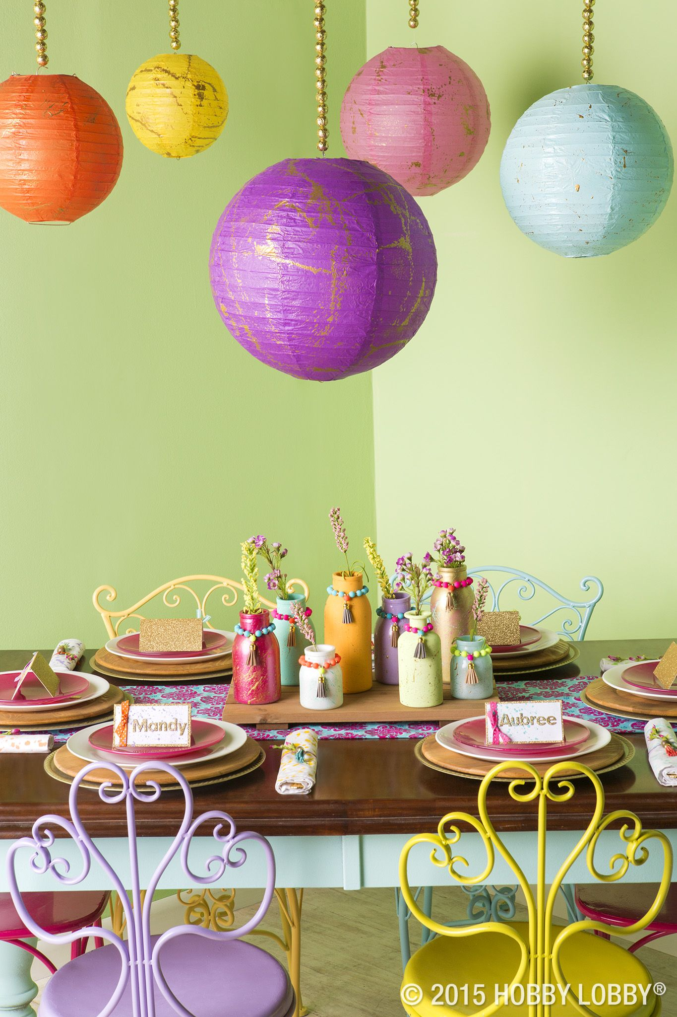 Add A Splash Of Color To Your Summer Place Settings