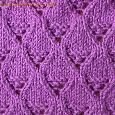 Lace basket knitting stitch | Lace knitting stitches ...