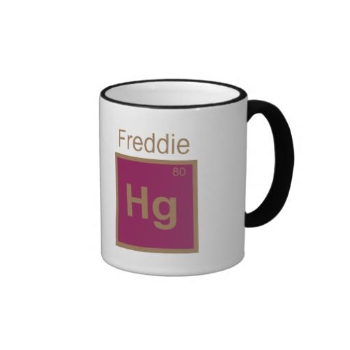 Freddie Hg (Mercury) Element Pun Mugs #queen Zazzle Products - best of periodic table puns