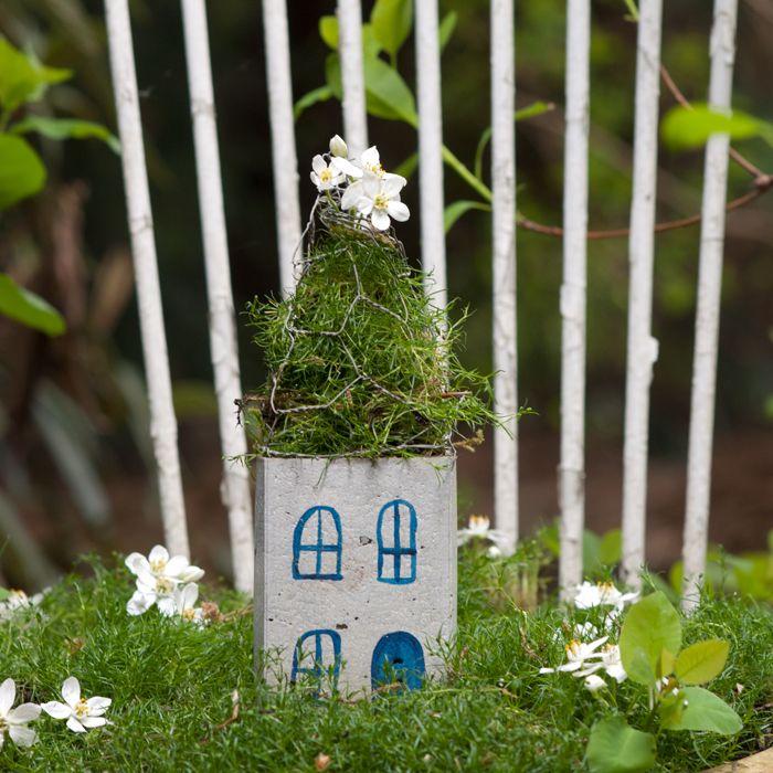 Lovely Feenh uschen aus Beton ein Garten DIY