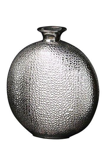 Avalon Medium Embossed Metallic Crocodile Vase by Howard Elliott on @HauteLook