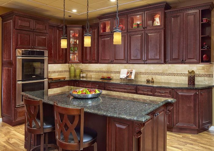 23 Cherry Wood Kitchens Cabinet Designs & Ideas  Shape Design Amusing Cherrywood Kitchen Designs Design Ideas
