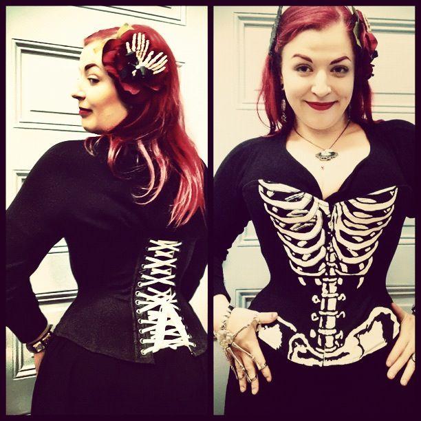 0d93d46698 Pop Antique Skeleton Corset. Corset Style Watch  5 Spooky Skeleton Corsets  ...
