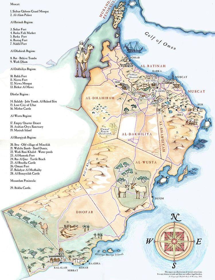 Oman Map Map Oman Region