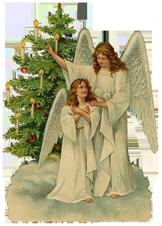 Happy Holidays Clip Art Victorian