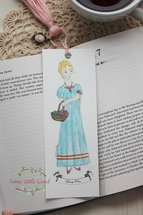mansfield park bookmark fanny price book mark jane austen bookmark bridal shower favor