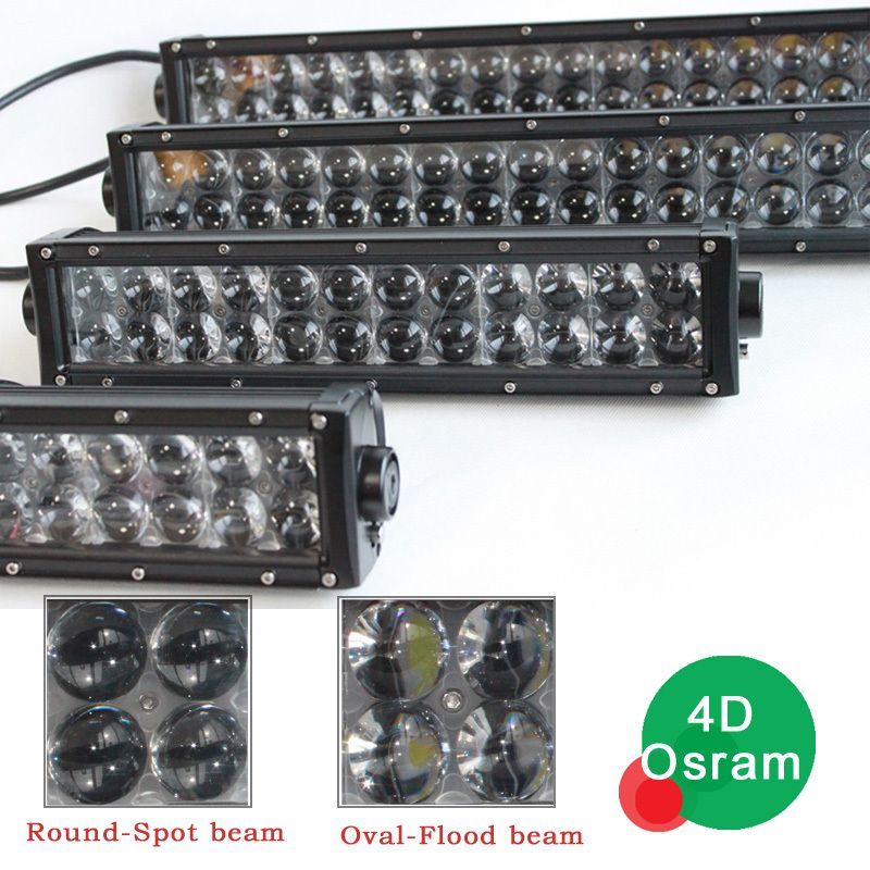 Fish Eye Lens Osram 4d 52inch Led Light Bar For Offroad Light Use Led Lights Bar Lighting Led Light Bars