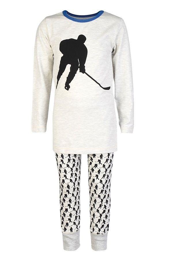 4fc19c0a Claesen's pyjama voor jongens Ice Hockey, grijs | Kinderpyjama's ...