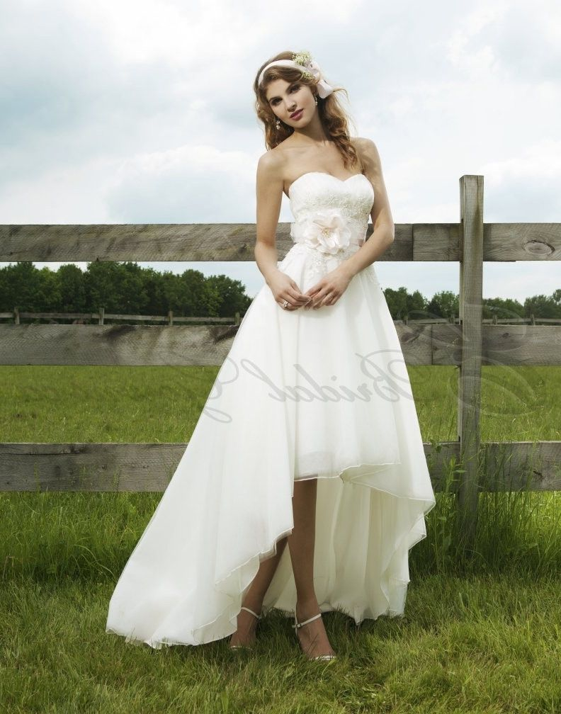 e865add6f0 High Low Wedding Dress With Cowboy Boots