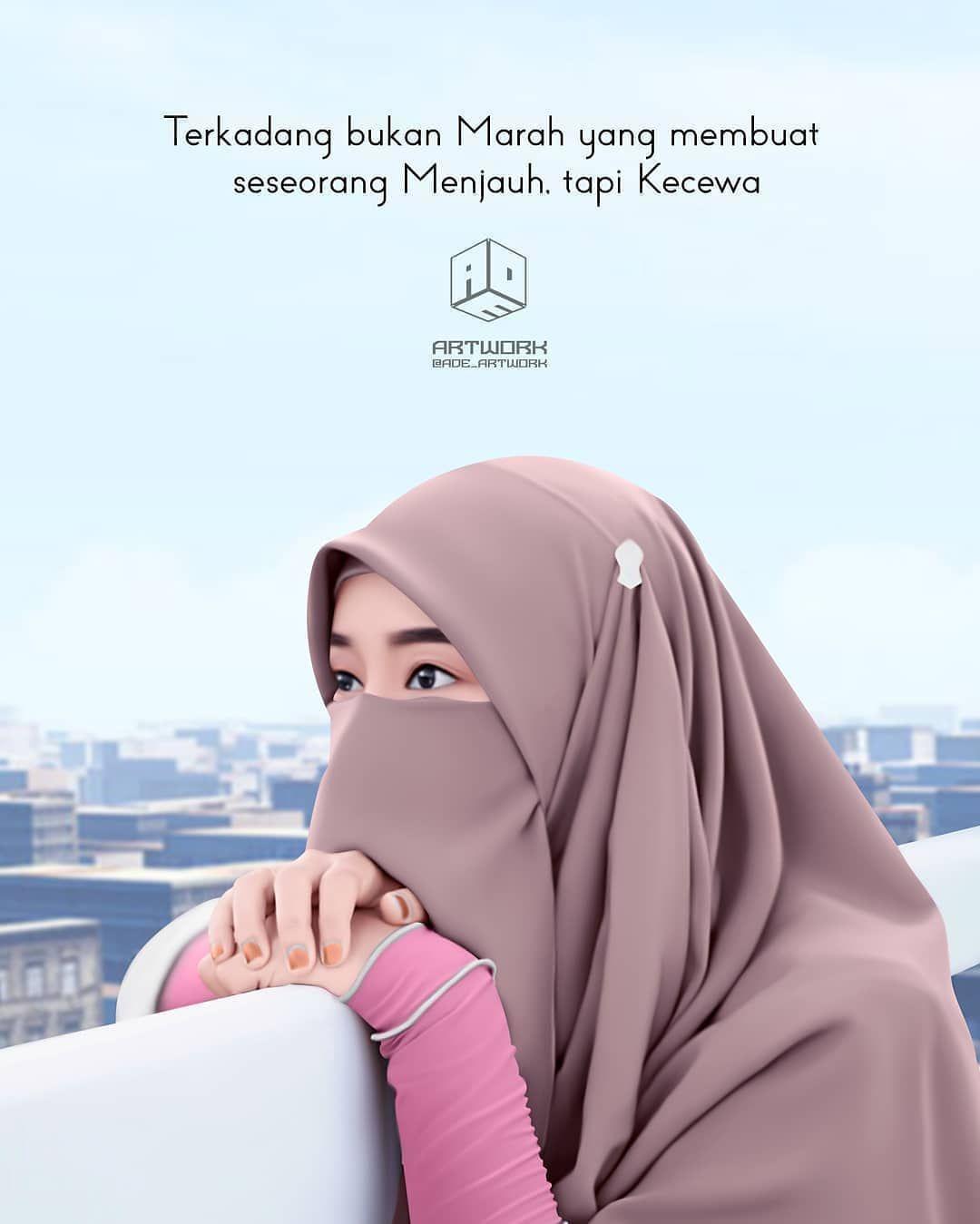 Foto Kartun Muslimah 3 Bersahabat Gambar Kartun Kecantikan
