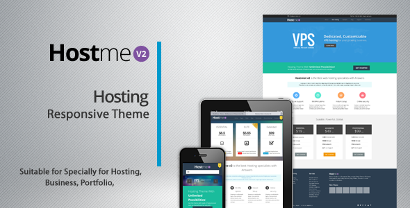 Hostme v2 Responsive Wordpress Theme Hosting Technology
