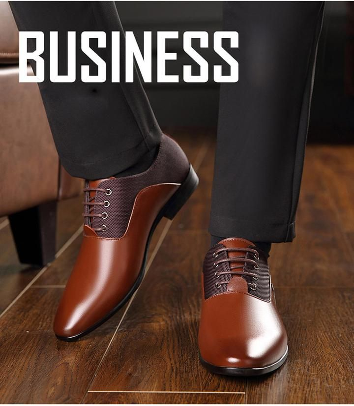 48aae730f Men s Formal Leather Luxury Fashion Wedding Shoes