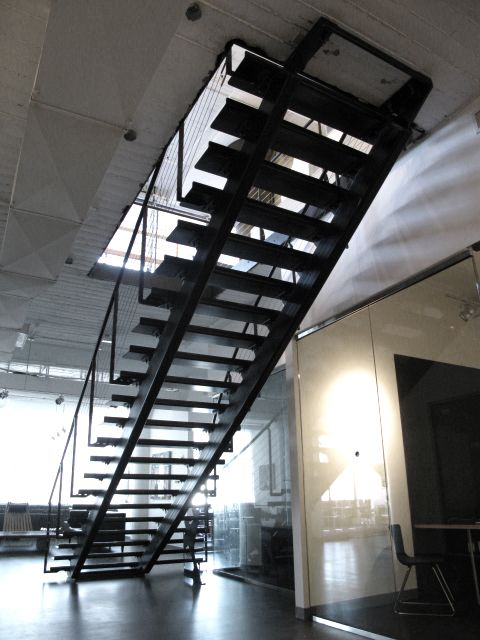Best Custom Steel Stair With Concrete Treads By Face Design 640 x 480
