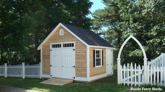 15 Reeds Ferry 12x14 Victorian Cottage With Cedar Clapboard Siding Shed Traditional Sheds Backyard Storage Sheds