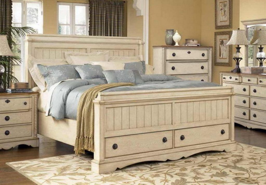 White Rustic Bedroom Furniture