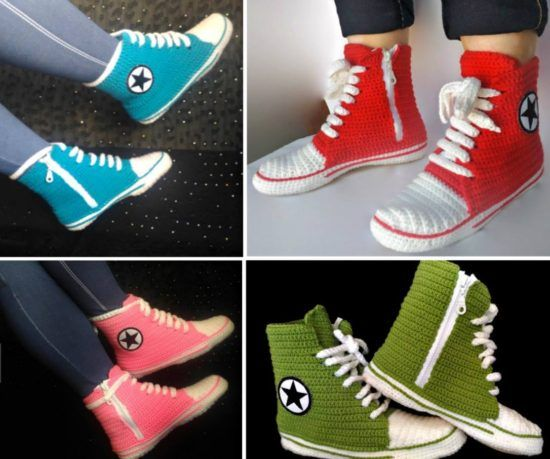 Crochet Converse Slippers Free Pattern Video Tutorial