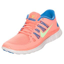 factory authentic c2062 98621 Women s Nike Free 5.0+ Running Shoes   FinishLine.com   Atomic Pink Flash  Lime Distance Blue