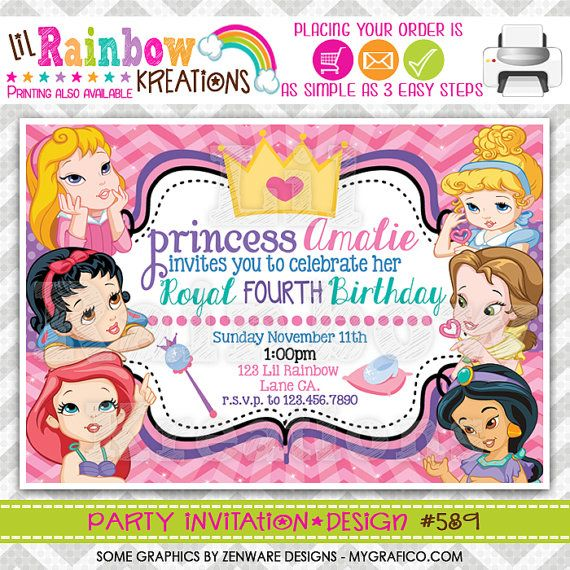 589 DIY Disney Baby Princesses Inspired Party By LilRbwKreations