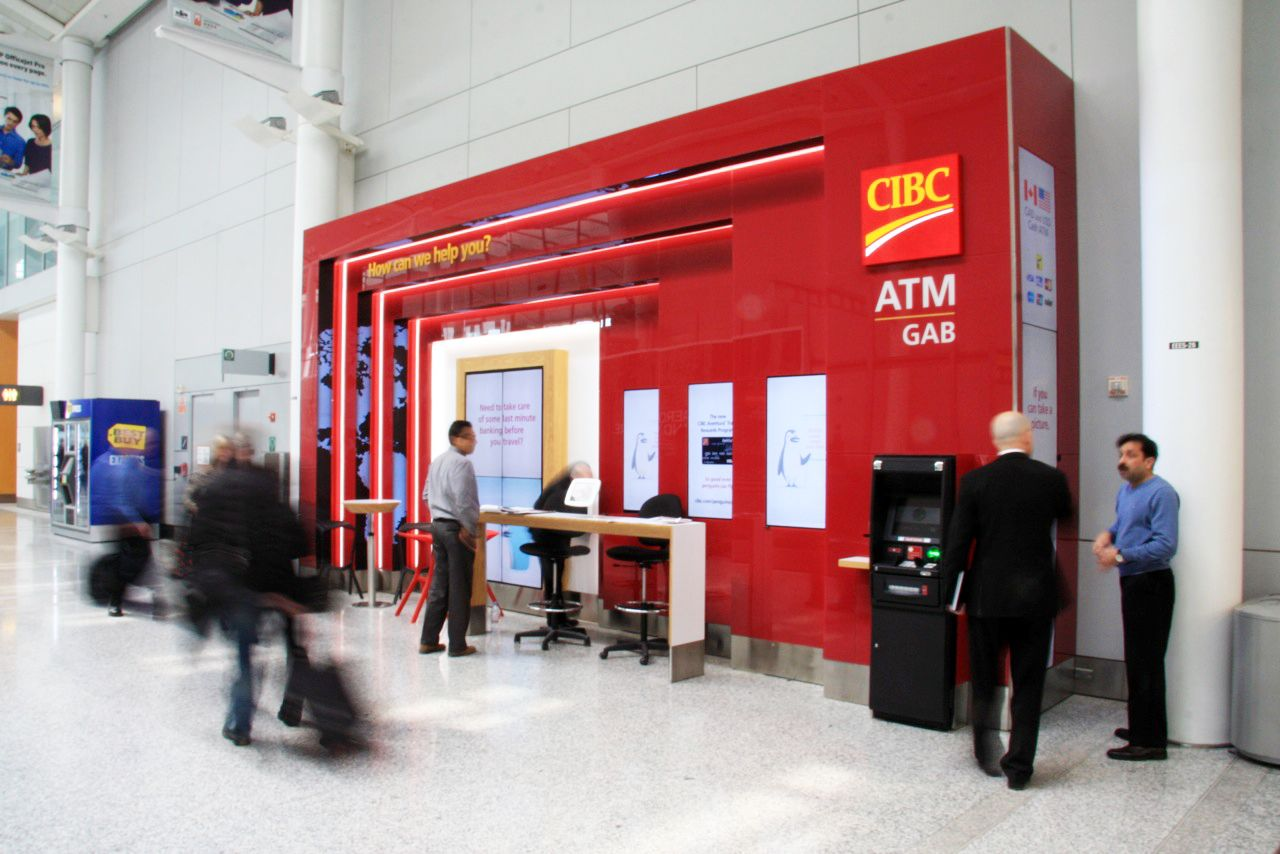Cibc Airport Kiosk By Creating A Connected Customer Experience Using Innovative Branch Design As A Template For Full Service And Smaller More Agile Te Ideias