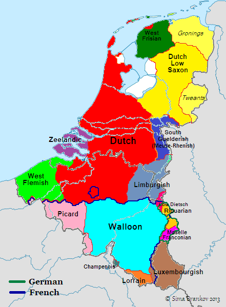 Main languages and dialects of the Netherlands Maps Pinterest
