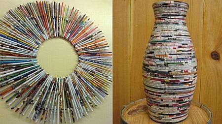Interesting Home Decor Stuff Made From Recycled Magazines