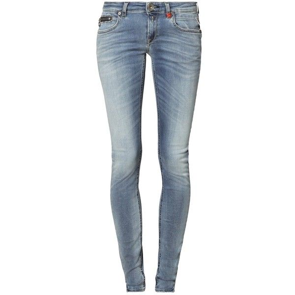 Replay ALANIES Slim fit jeans denim ($205) ❤ liked on Polyvore featuring jeans, light blue, tall jeans, light blue denim jeans, slim-fit denim jeans, slim leg jeans and slim fit blue jeans