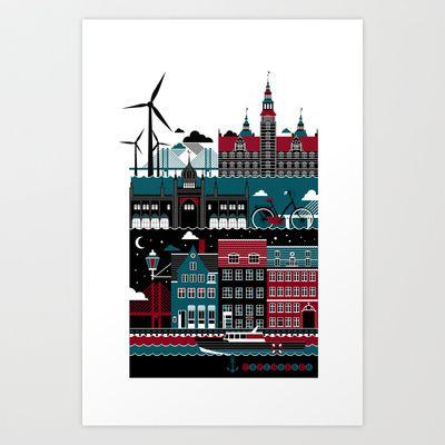 Copenhagen Art Print by koivo - $22.88