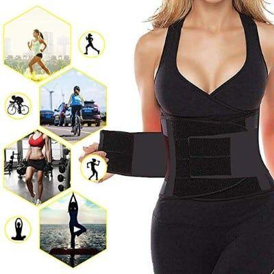e974adc3f2ec6 SHAPERX Camellias Waist Trainer Belt Body Shaper Belly Wrap Trimmer ...