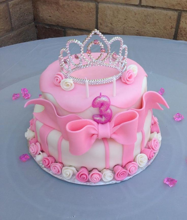 3 Year Old Birthday Cake Girls 2nd Princess Cakes Pink