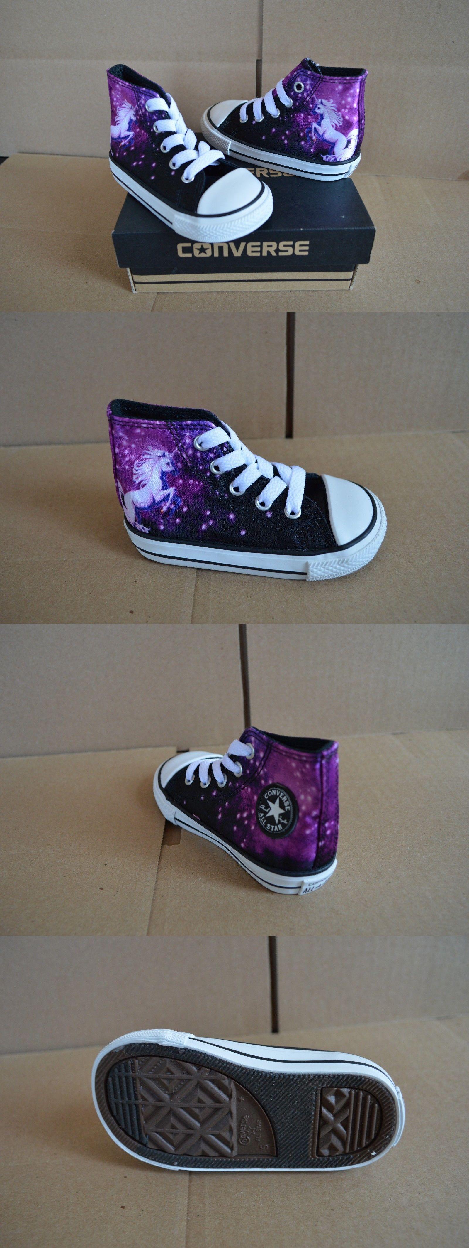 Baby Shoes New Converse Ct All Star Black Purple Unicorn