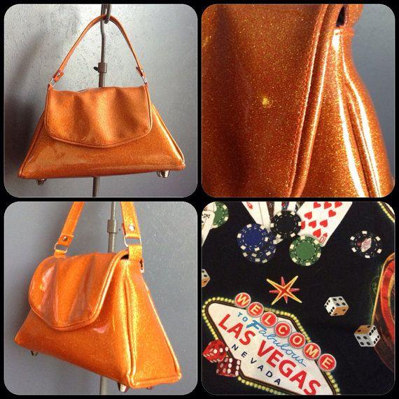 Orange Glitter Handbag by Disgraceland on Etsy, $55.00