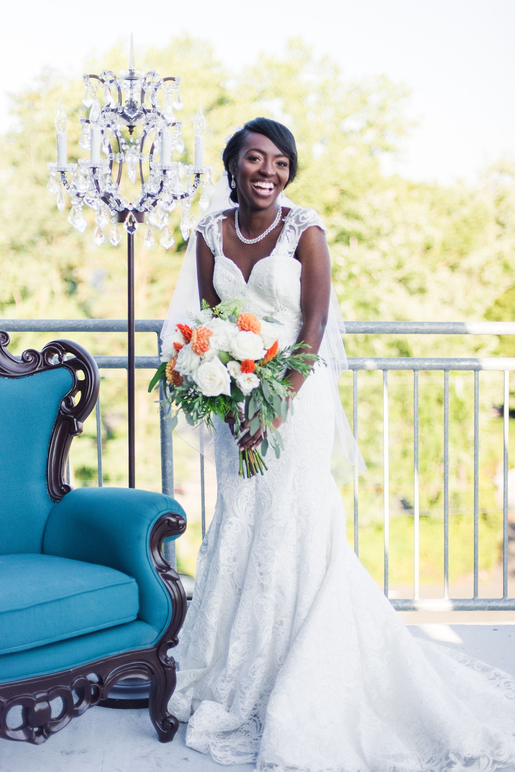African American Bride In Dress By Jean Ralph Thurin Boutique