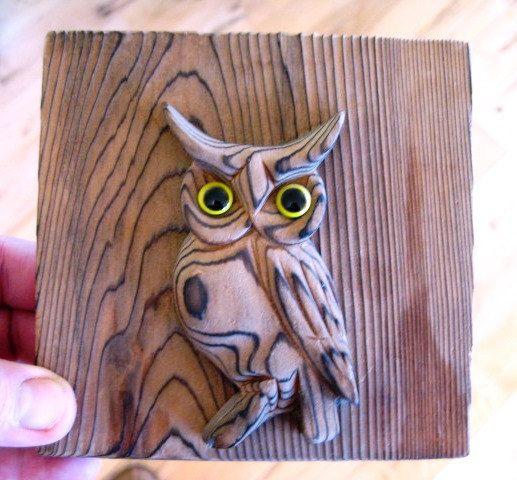 Owl Wohndesign: Vintage Wooden Otagiri Mercantile Company Owl Bookend Set