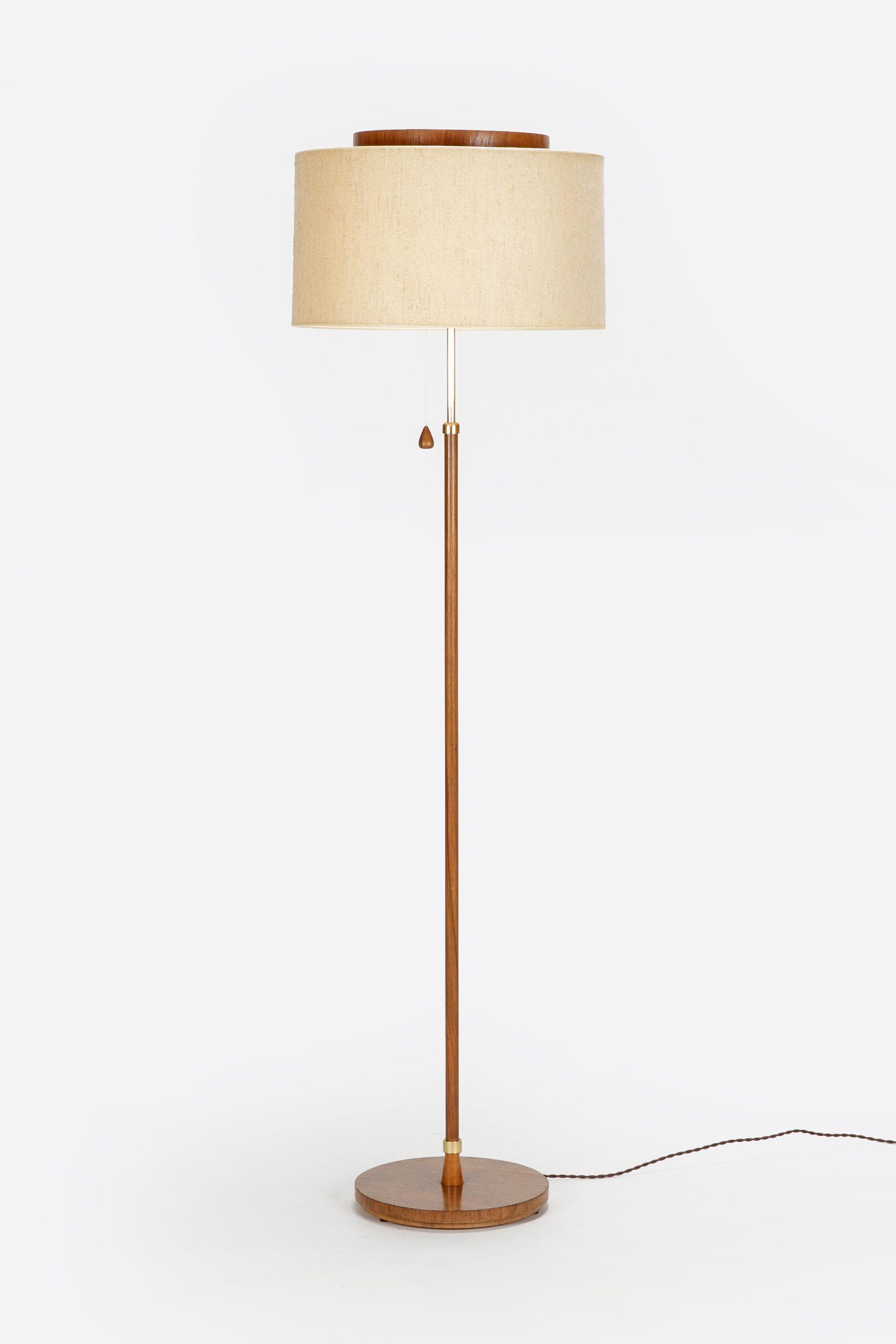 Temde Floor Lamp Teak 50 S Okay Art Lamp Lamps Living Room Brass Floor Lamp